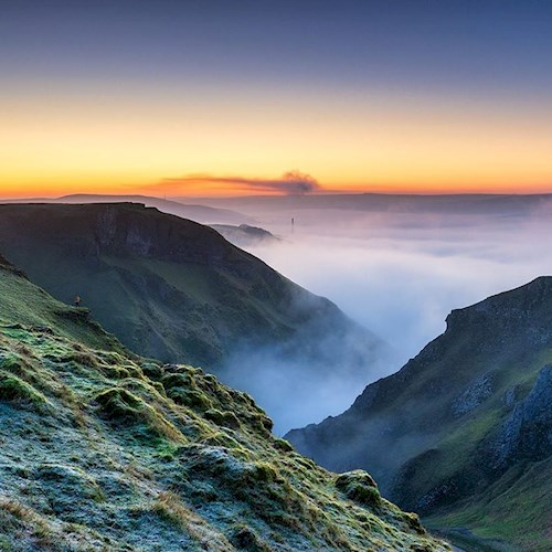 Misty moors in the Peak District