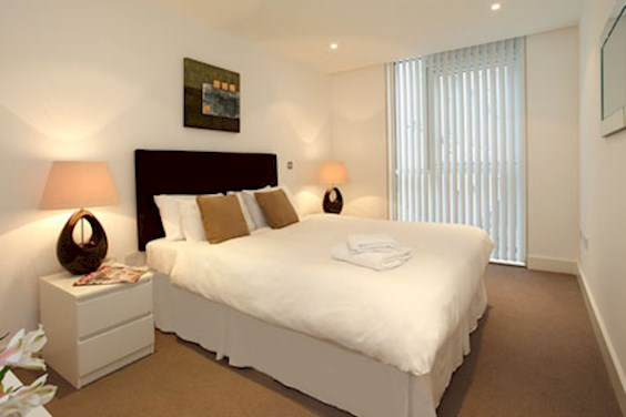 Bedroom of apartments at SACO Tower Hill